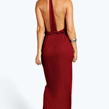 Sarah Strappy Back Maxi Dress | Boohoo