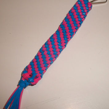 Cotton Candy Colored Gimp Keychain