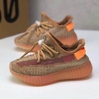 adidas Yeezy Boost 350 V2 CLAY Toddler Kid Running Shoes Child Low Top Sneakers - Best Deal Online