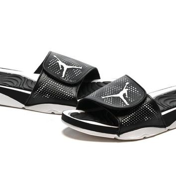 Nike Jordan Hydro V Retro Black/White Sandals Slipper Shoes Size US 7-11