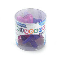 Gumdrop BPA Free Newborn Pacifiers 6 Pack - Girls