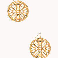 Cutout Geo Drop Earrings