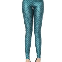 Solilor Mermaid Print Leggings