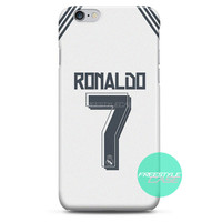 Cristian Ronaldo Real Madrid Jersey New Kit iPhone Case 3, 4, 5, 6 Cover