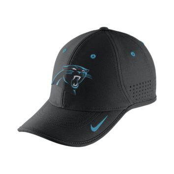 Nike True Vapor (NFL Panthers) Adjustable Hat (Black)