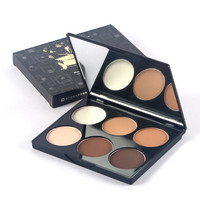 Foundation powder  Brand 6 Colors Women Face Powder  bare minerals makeup  Highlight Contour Shadow Powder Palette Cosmetics 514