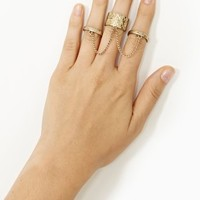 Triple Threat Chained Rings