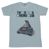 Two Door Cinema Club T-Shirt cat indie dance clubbing party / GV13 size M