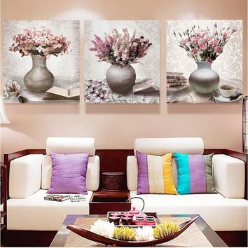 Vintage Flower Canvas Pirnts Wall Art Modular Pictures Wall Painting On Canvas Fashion Home Decoration Paintings Wall Pictures