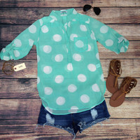 MINT JULEP SHEER TOP