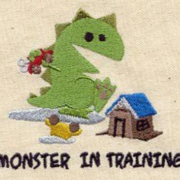 Monster in Training Baby Bib by MorningTempest on Etsy