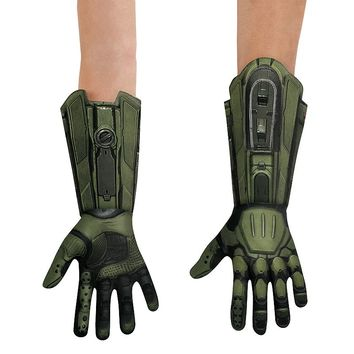Master Chief Deluxe Gloves - Child (Grey)