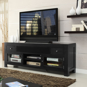 Cosmopolitan 76 Inch Entertainment Cabinet TV Stand Dark Gunmetal Gray