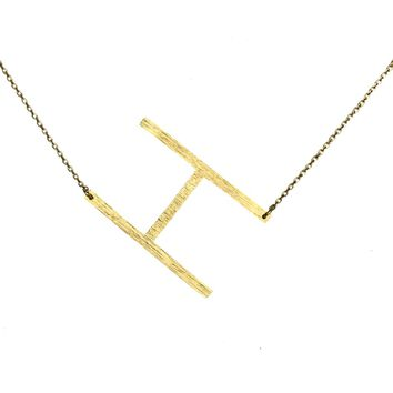 Ellison + Young Monogram Collection Initial Necklace - H