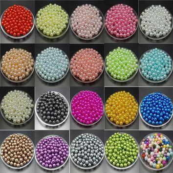 About the new DIY 20 color 4mm 200pcs / 6mm 100PCS / 8mm 50PCS bead spacing bead loose acrylic beads jewelry craft details