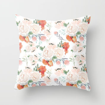 poppies Throw Pillow by sylviacookphotography