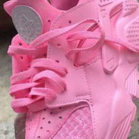 Air Nike Huaraches Custom Designed Pink