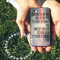 demons lyric cover Case on iPhone 4 / iPhone 4S / iPhone 5 / Samsung S2 / Samsung S3 / Samsung S4 Case