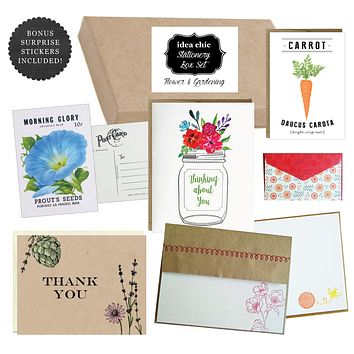 Flower and Gardening - Idea Chic Stationery Box Set