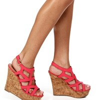 Pink Lemonade Cutout Cork Wedges