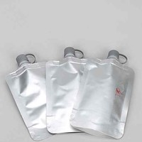 Disposable Flask - Set Of 3- Silver One