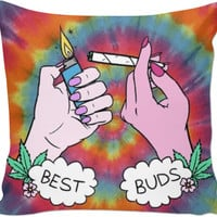 Best Buds Weed Tumblr Pillow