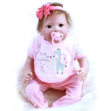 50cm Silicone Dolls Reborn Simulation Soft Plastic Vinyl Real Life Regeneration Doll Reborn Baby Girl Dolls for Girls Juguetes