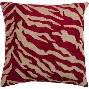 Throw Pillow - Red And Beige