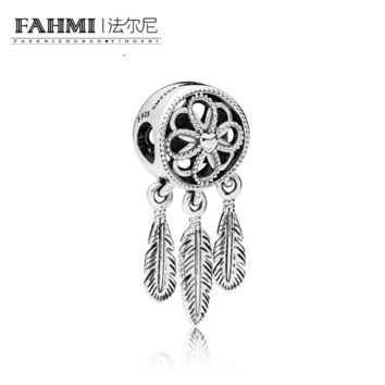 100% 925 Sterling Silver 1:1 Original SPIRITUAL DREAMCATCHER CHAR 797200 Beaded Fashion Women's Wedding Jewelry