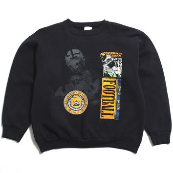University of Michigan Big Ten Football Tultex Crewneck Sweatshirt Black (Large)