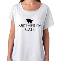Mother of cats women tri-blend dolman shirt