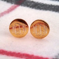 Monogrammed Earrings | Marleylilly