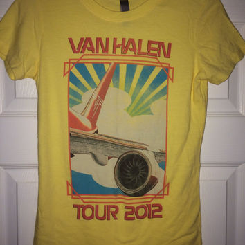 Sale!! Vintage VAN HALEN tour 2012 T-shirt womens band tee