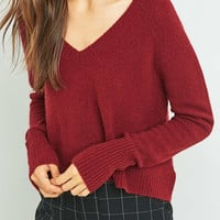 BDG V-Neck Cropped Jumper - Urban Outfitters