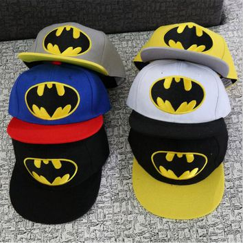 Batman  Children Hip Hop Baseball Cap  snapback Caps age 2-9 years old