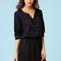 Elizabella Studded Tunic Dress