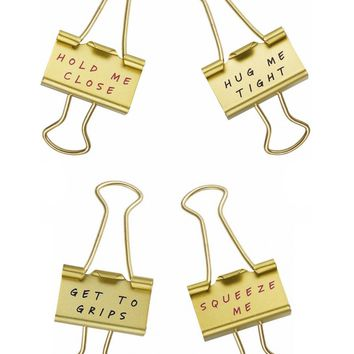 Fancy Gold Bulldog Clips