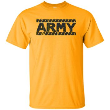 UNITED STATES ARMY : CAUTION BLACK : G200 Gildan Ultra Cotton T-Shirt