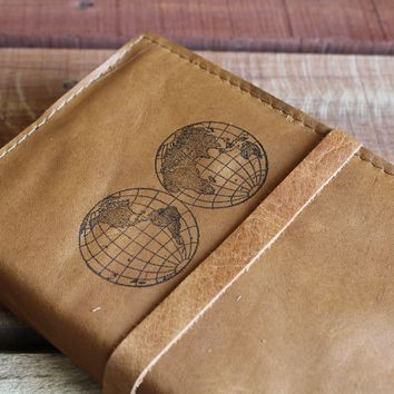 World Globes Leather Journal