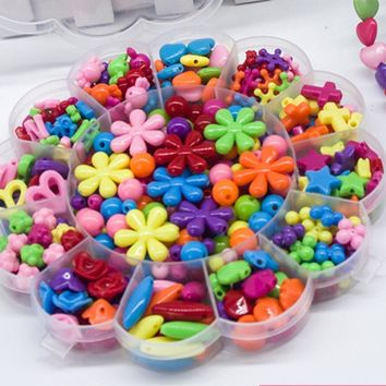 Colorful  Bracelet Bead Jewelry Making Kids Beads Set
