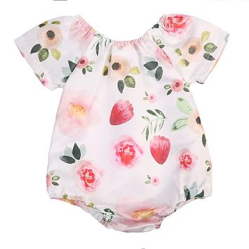 Baby Girl Clothing Adorable Infant Baby Girl Floral Romper Jumpsuit Outfit Sunsuit Clothes
