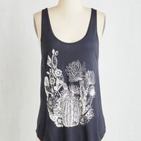 ModCloth Mid-length Tank top (2 thick straps) Cactus and Them Top