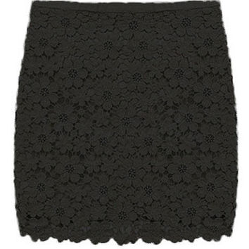 Summer Lace Embrodery Openwork Mini Bodycon Skirt