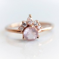 Rose Quartz Olivia Ring