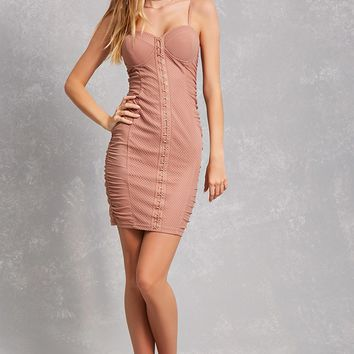 Netted Bustier Bodycon Dress