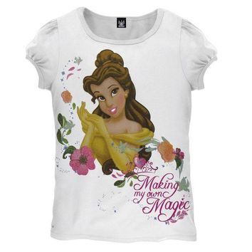 ICIK8UT Disney Princess Belle Magic Juvy Girls T-Shirt