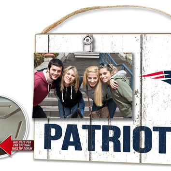 New England Patriots Clip It Weathered Logo Photo Frame