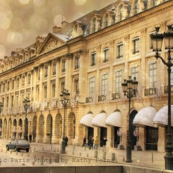 Paris Photos Note Card, Paris La Place Vendome, Paris Architecture, Fine Art Photograph, Paris Note Card 5x7