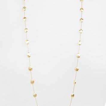 'Siviglia' Long Disc Station Necklace