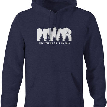 Explore Hoodie Navy Heather (SM/2XL)